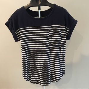 Merona Short Sleeve Striped Top L